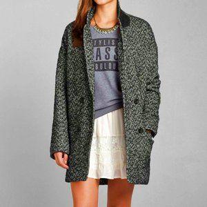 Abercrombie Madeline Herringbone Tweed Coat M